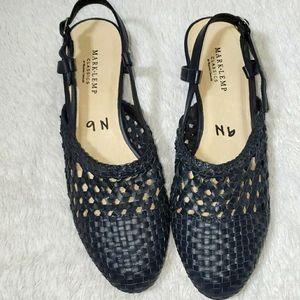 Mark and Lemp Classics Leather Woven Heels